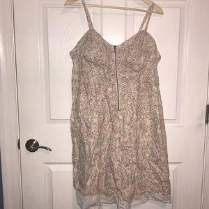 Torrid summer zip front flower lined dress